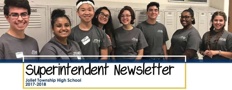 Newsletter Header eight students smiling